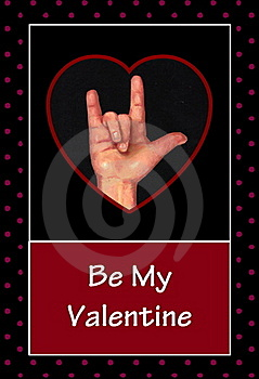 Valentine In American Sign Language Royalty Free Stock Photo - Image: 17844255