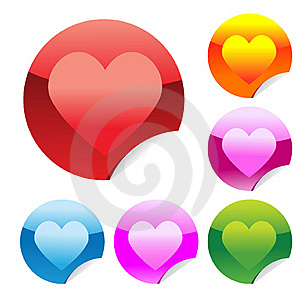 Heart Stickers Stock Photography - Image: 17844322