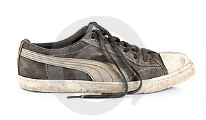 Old Sneakers Isolated Stock Photo - Image: 17845200