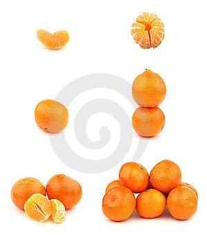 Fresh Tangerines Isolated On White Background. Stock Photos - Image: 17846633