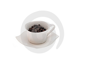 Cup Of Coffe Beans Stock Images - Image: 17846714