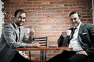 Smiling Happy Business Partners Stock Photography - Image: 17847002