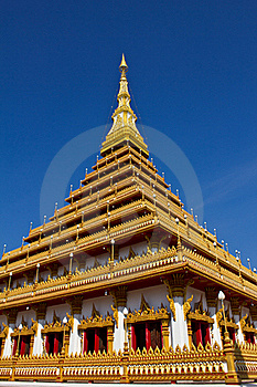 Wat Nongwaeng Pagoda Royalty Free Stock Images - Image: 17848199