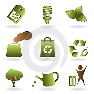 Eco And Environment Icon Set Royalty Free Stock Images - Image: 17848219