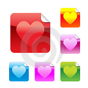 Heart  Stickers Royalty Free Stock Images - Image: 17849209