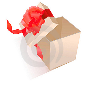 Realistic Giftbox With Bow Stock Image - Image: 17850451