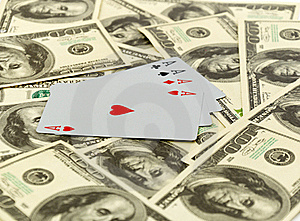 Cards On 100 Dollars Stock Photography - Image: 17851622