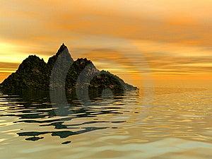 Rocky Island In The Sea Stock Photos - Image: 17851883
