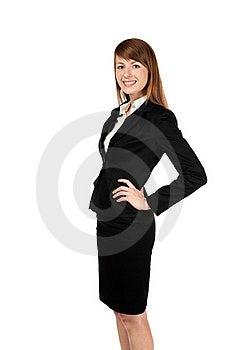 Sourire De Femme D'affaires. D'isolement Sur Le Blanc Image stock - Image: 17852281