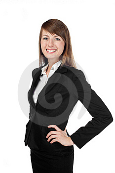 Businesswoman Smiling. Isolated On White Stock Image - Image: 17852301