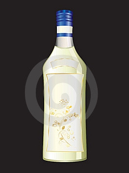 A Bottle Of Wine. Royalty Free Stock Photo - Image: 17853075
