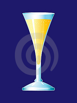 A Glass Of Champagne. Royalty Free Stock Images - Image: 17853089