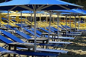 Empty Sunbeds Stock Image - Image: 17855711