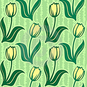 Tulip Line Seamless Background Stock Photo - Image: 17856250