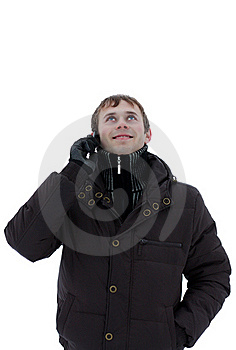 A Young Man Talking On The Phone Royalty Free Stock Photography - Image: 17856997