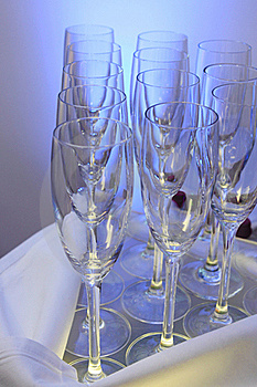Empty Champagne Glasses Royalty Free Stock Image - Image: 17857026