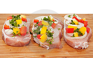 Raw Pork Chop With Vegetables Stock Images - Image: 17858634
