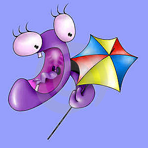 Monster With Umbrella Royalty Free Stock Images - Image: 17859349