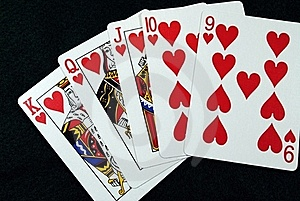 Straight Flush Stock Photo - Image: 17859740
