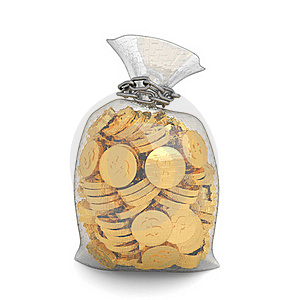 Money Bag Royalty Free Stock Photography - Image: 17862347