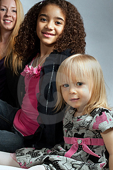 Mother And Two Daughters Royalty Free Stock Image - Image: 17862446