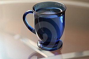 Full Blue Cup Royalty Free Stock Photo - Image: 17862475