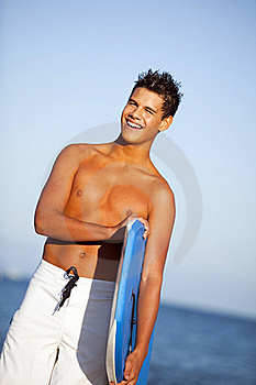 Young Man Beach Royalty Free Stock Photos - Image: 17862718