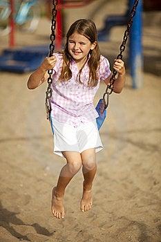 Girl Swinging Royalty Free Stock Image - Image: 17862966