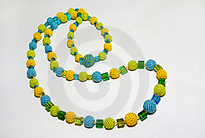 Crocheted Colorful Necklace Royalty Free Stock Photos - Image: 17863688