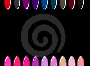 Nail Polish Color Chips Stock Photos - Image: 17864223