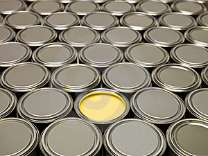 Full Frame Of Paint Cans Stock Photos - Image: 17870893