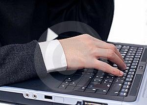Typing At Laptop Stock Images - Image: 17871144