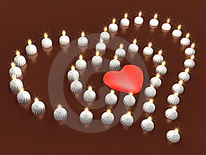Event 3d Candle Array As Heart Royalty Free Stock Photography - Image: 17871907