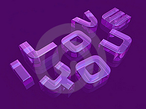 3d Transparent Typography Art Royalty Free Stock Images - Image: 17871979