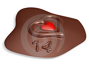 14 Typography And Heart On Meltting Chocolate Stock Photo - Image: 17871990