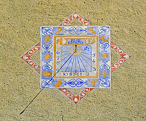 Zodiacal Sundial Or Sun Clock On A Wall In Provenc Royalty Free Stock Images - Image: 17872939