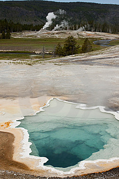 Upper Geyser Basin - Yellowstone National Park Stock Photos - Image: 17874613