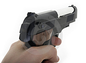 Hand Holding Gun Stock Photo - Image: 17881910