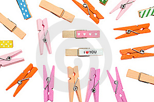 Colorful Clothespin Stock Images - Image: 17884514