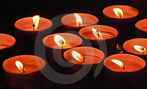 Valentine's Day Candles Royalty Free Stock Photos - Image: 17885208