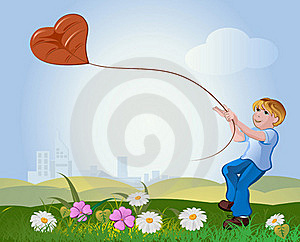 Boy With Kite Royalty Free Stock Images - Image: 17886179