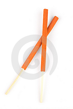 Two Incense Sticks Royalty Free Stock Image - Image: 17889596