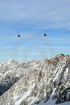 Gondola Ski Lift Above Alps Mountains Stock Photos - Image: 17890913