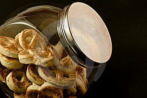 Pretzels In A Jar Royalty Free Stock Photos - Image: 17891108