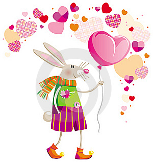 Hare On Valentine's Day Royalty Free Stock Images - Image: 17891929