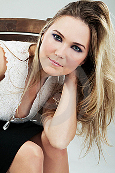Young Beautiful Woman Royalty Free Stock Image - Image: 17892576