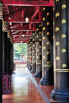 Balcony Column In Thai Ancient Royalty Free Stock Photo - Image: 17893065