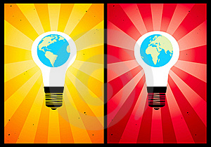 Bulb And Globe Royalty Free Stock Photography - Image: 17894077
