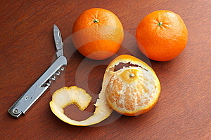 Three Mandarin Oranges Royalty Free Stock Photos - Image: 17895718