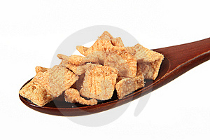 Cereals On Spoon Stock Image - Image: 17896091
